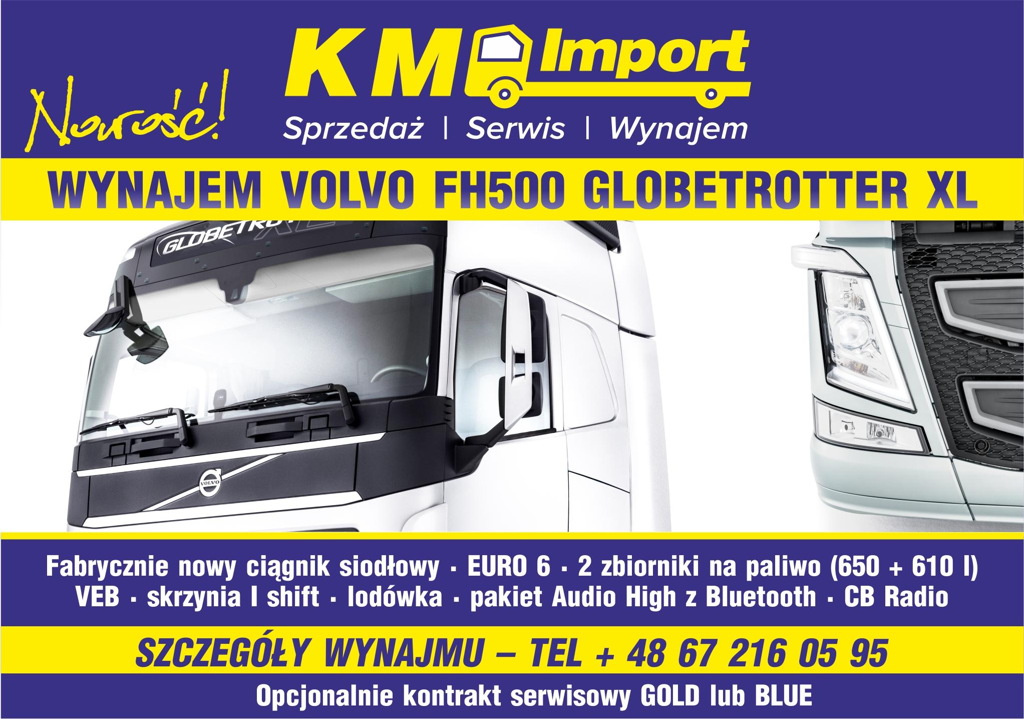 10 x VOLVOFH500 NA WYNAJEM - KM Import