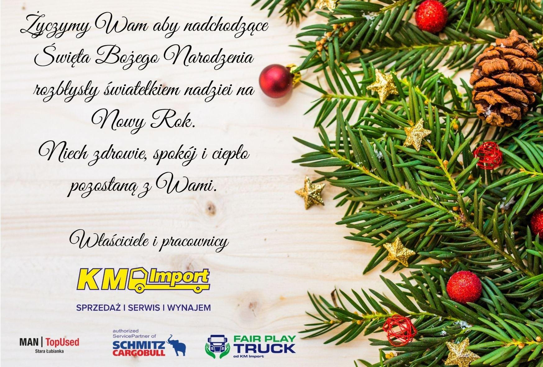 Wesołych Świąt ! - KM Import